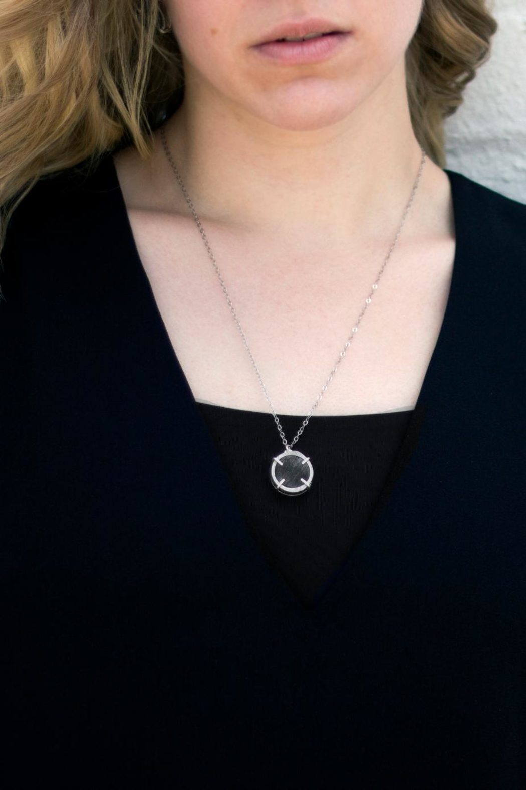 Sable + Company Circle Prong Necklace - Front Full Image