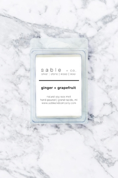 Sable + Company Ginger Grapefruit Wax Melt - Product List Image