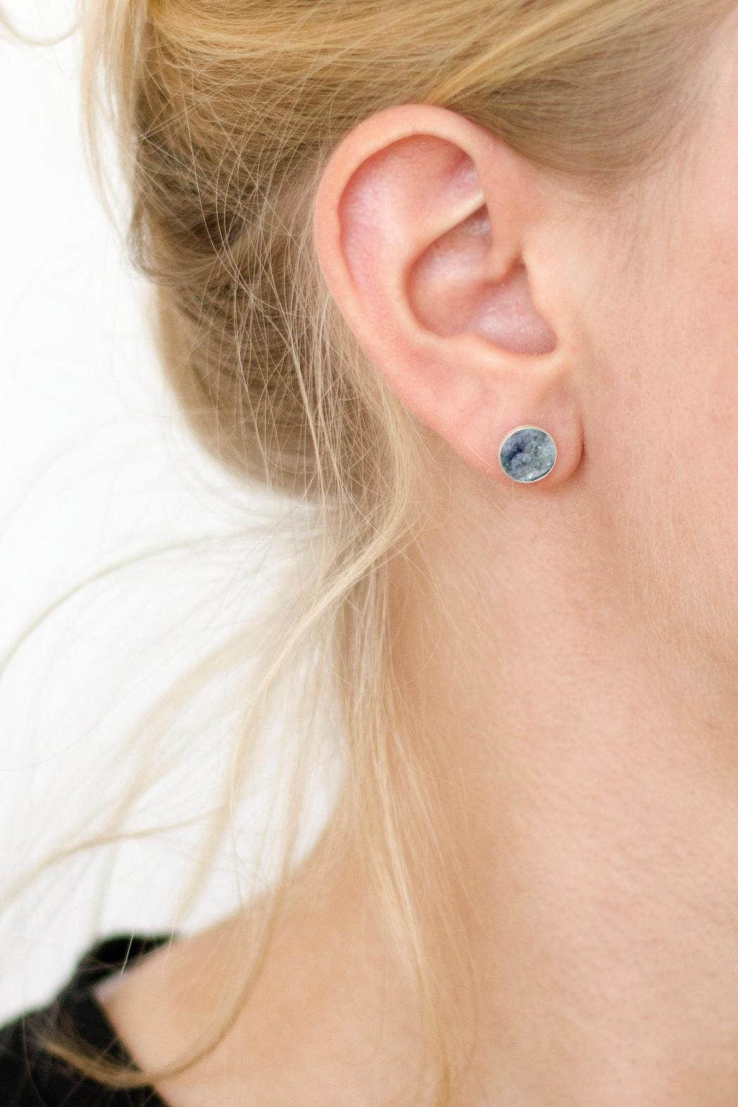 Sable + Company Grey Granite Earrings - Side Cropped Image