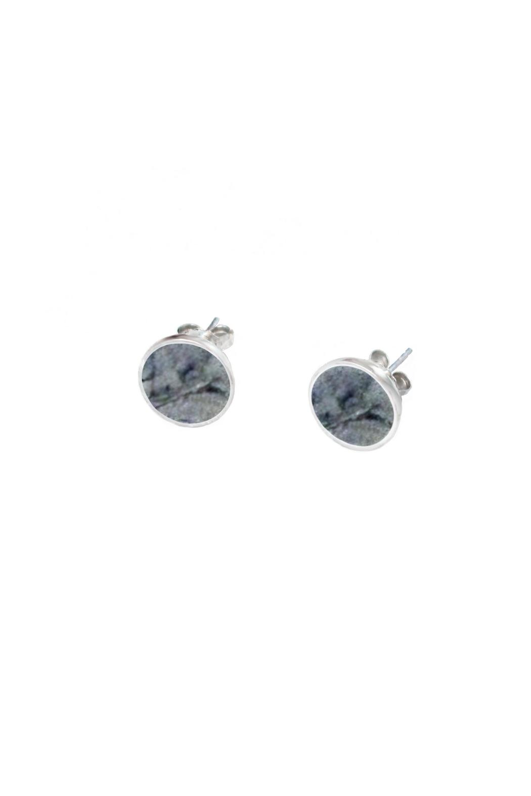 Sable + Company Grey Granite Earrings - Back Cropped Image