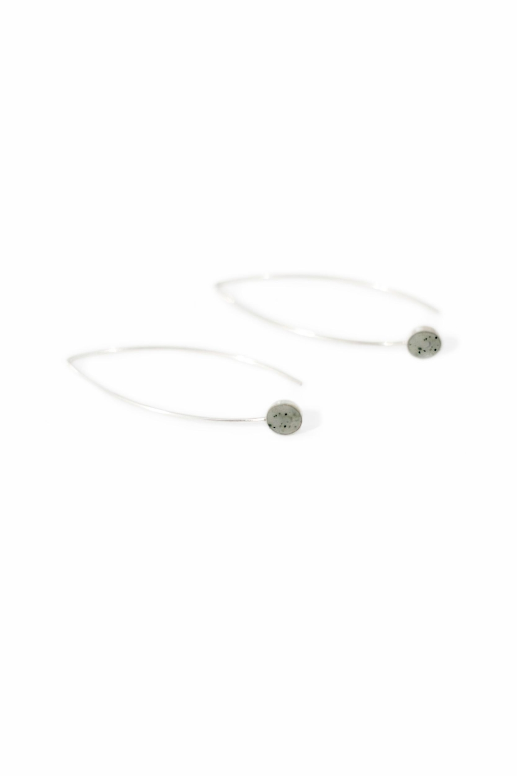 Sable + Company Sandstone Threader Earrings - Front Full Image