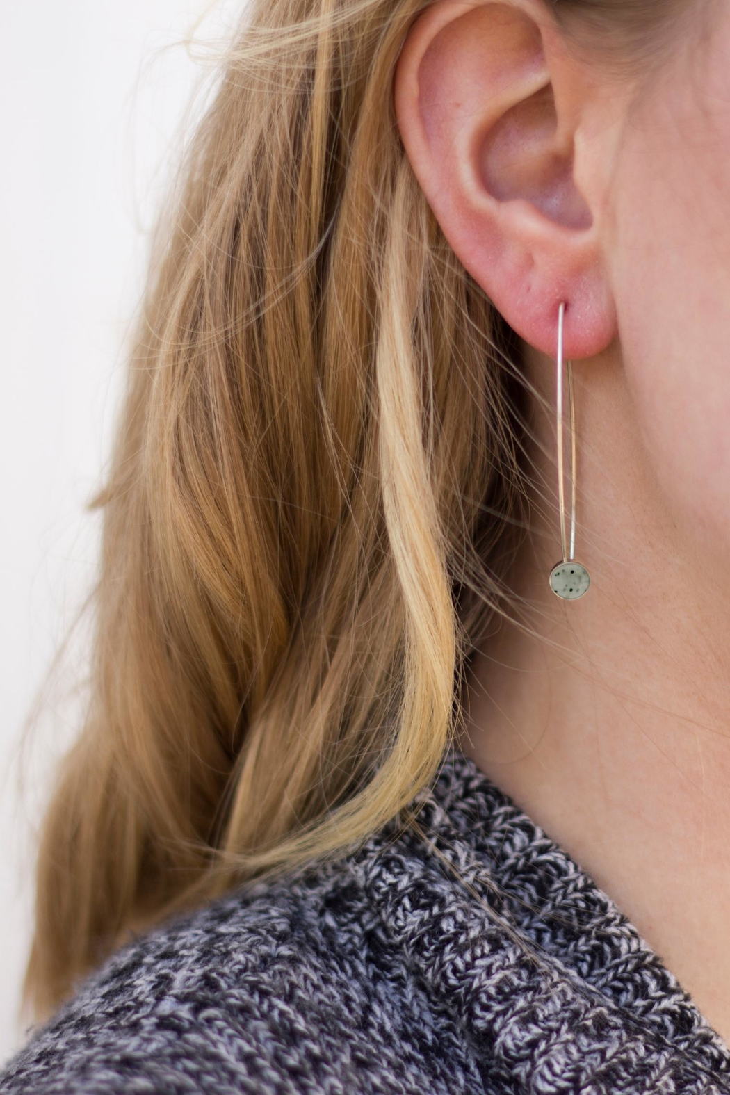 Sable + Company Sandstone Threader Earrings - Main Image