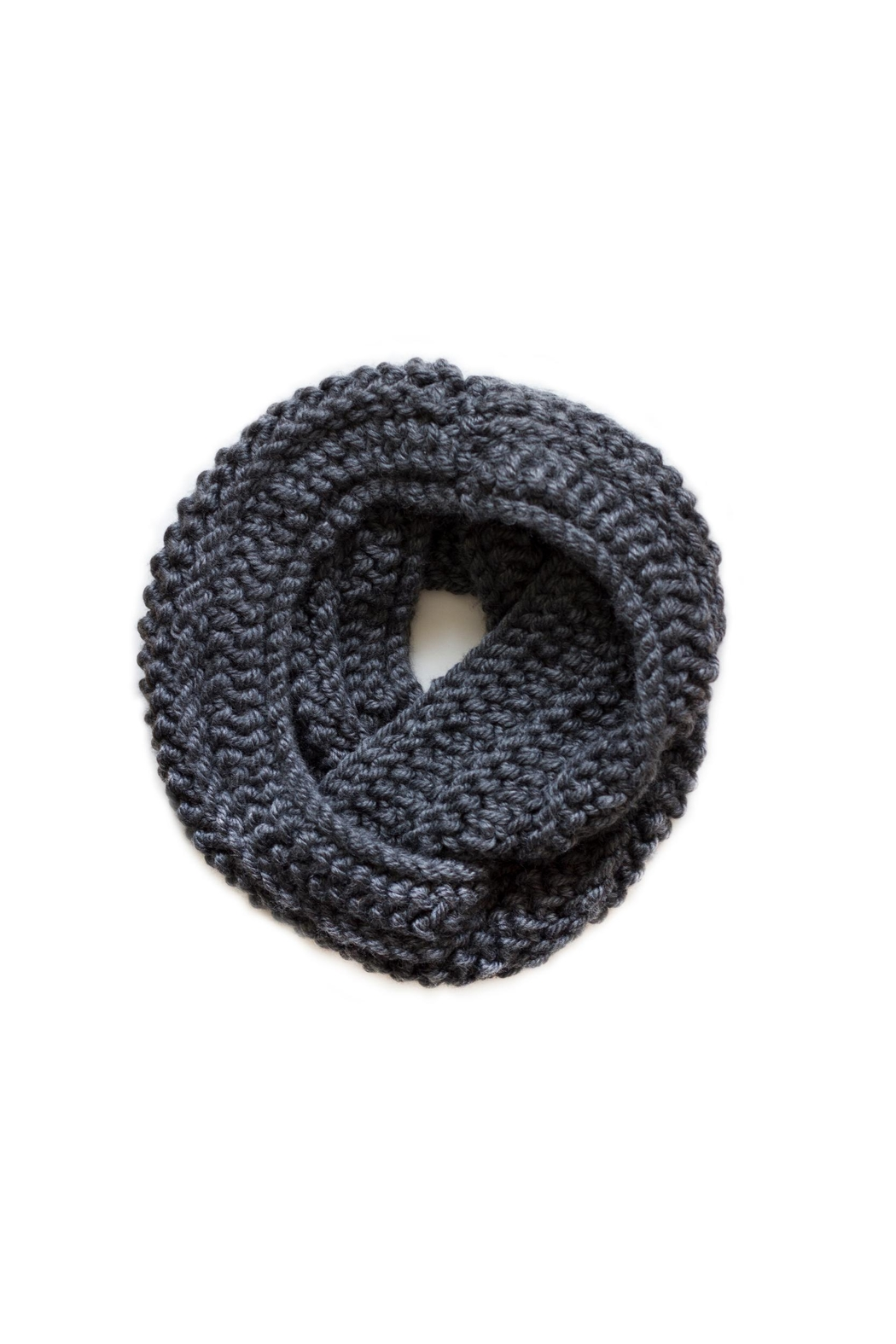 Sable + Company Slate Infinity Scarf - Front Full Image