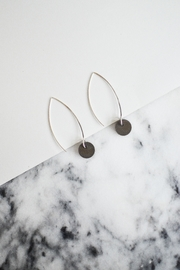 Sable + Company Small Circle Thread-Earrings - Side cropped