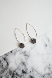 Sable + Company Small Hexagon Thread-Earrings - Side cropped