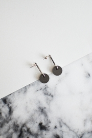 Sable + Company Solid-Circle Drop Earrings - Product Mini Image
