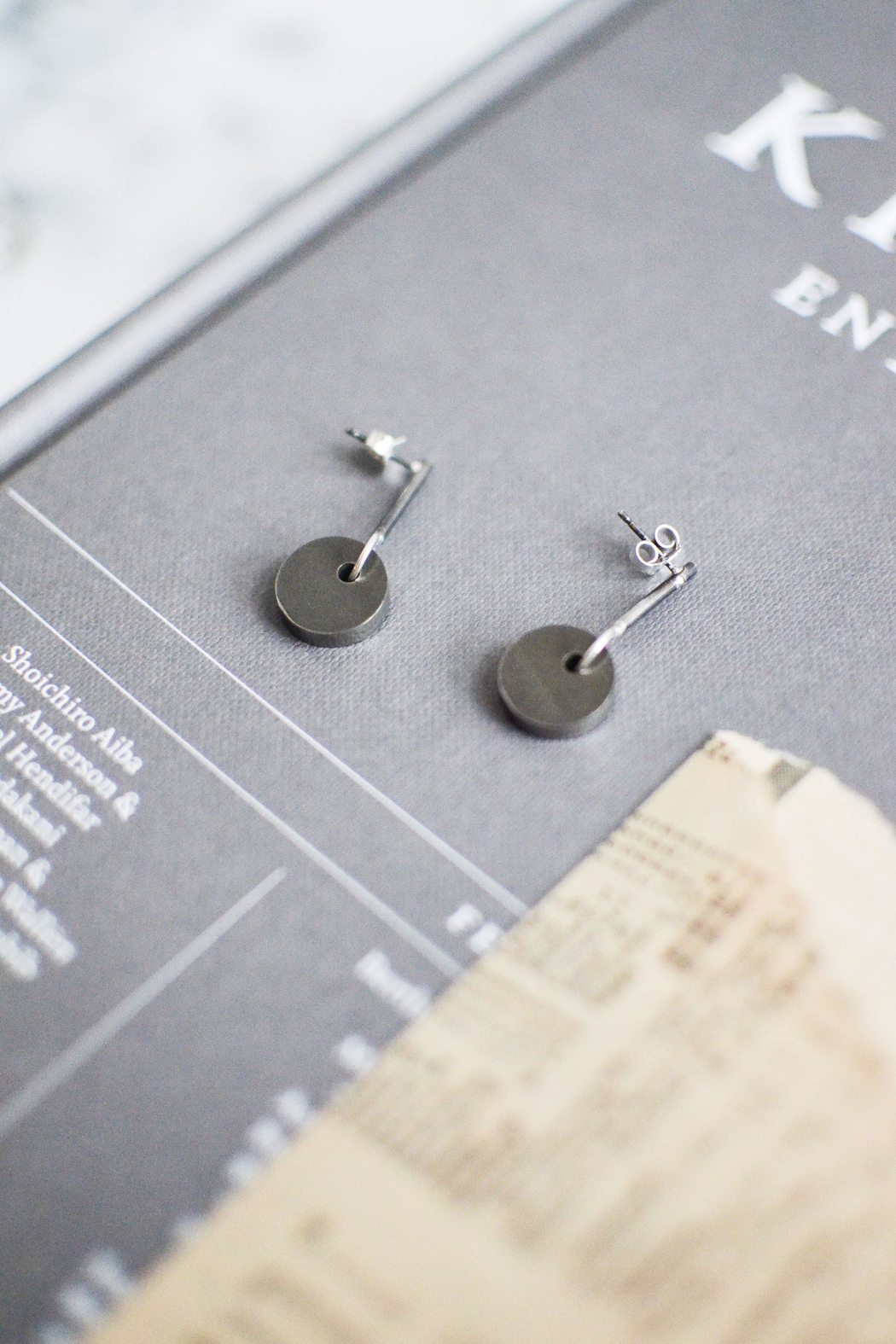 Sable + Company Solid-Circle Drop Earrings - Back Cropped Image