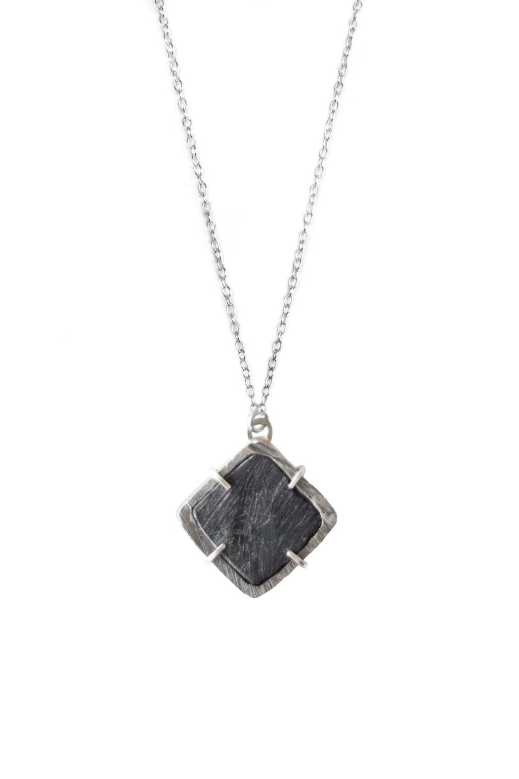 Sable + Company Square Prong Necklace - Front Full Image