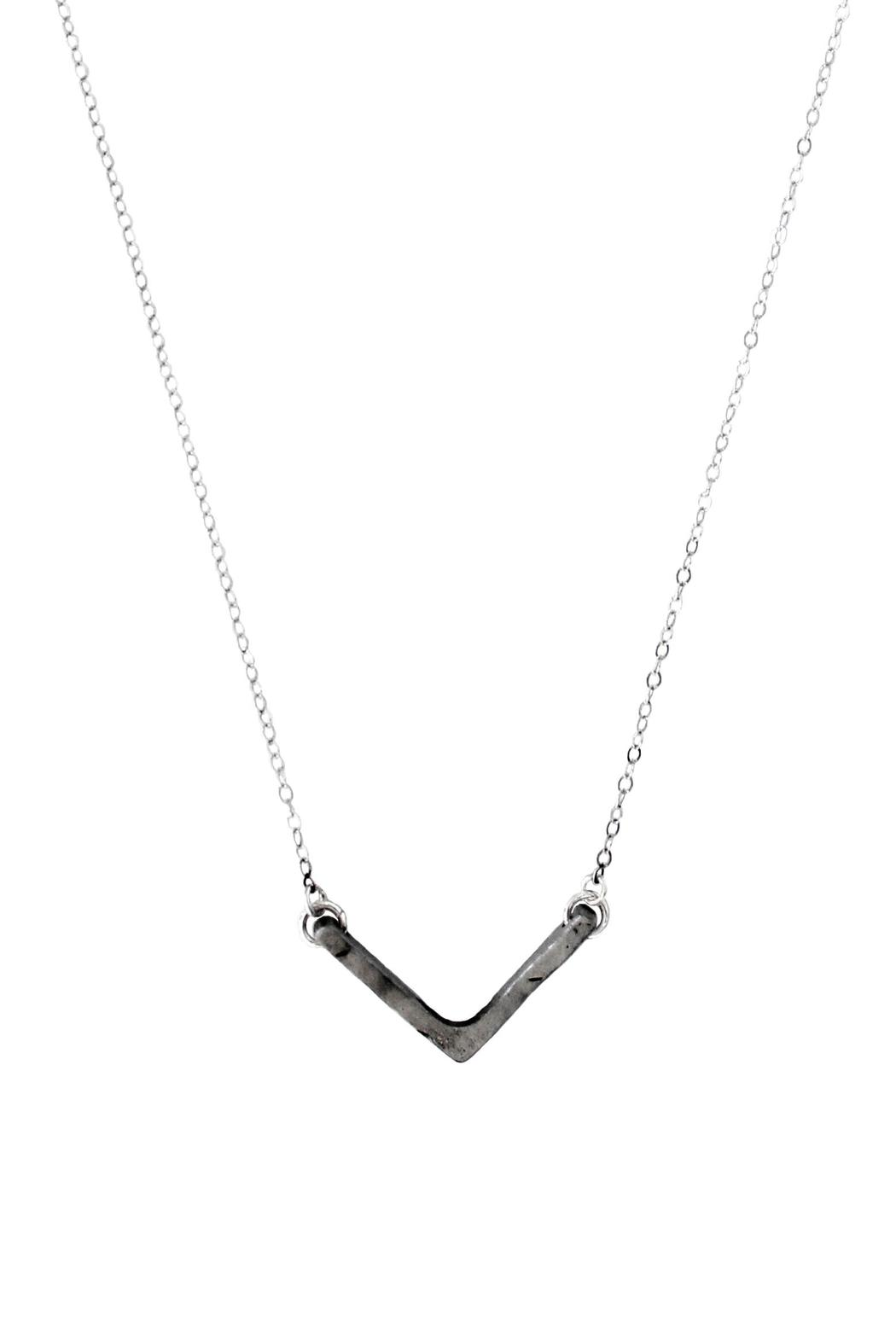 Sable + Company Steel Chevron Necklace - Front Full Image