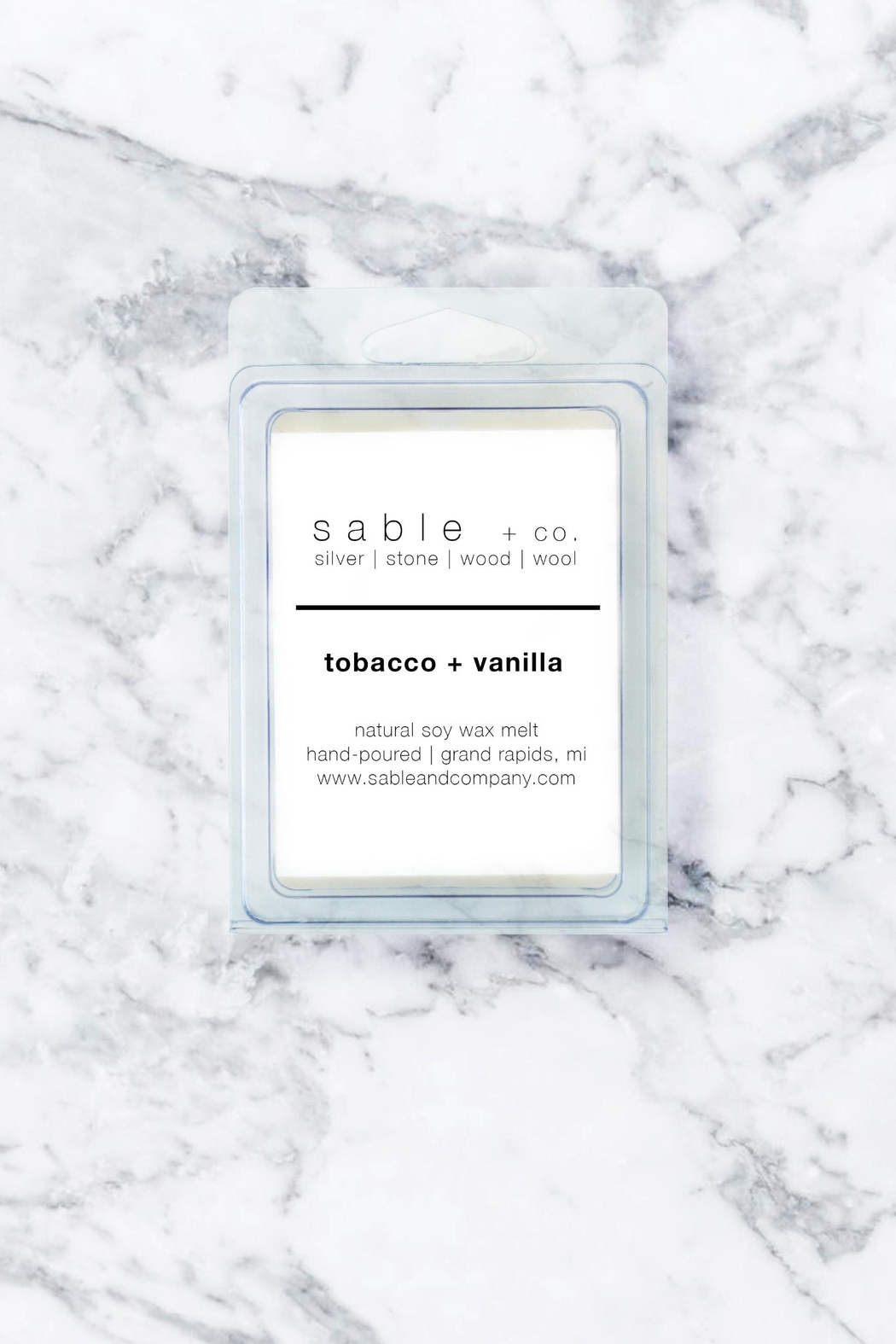 Sable + Company Tobacco Vanilla Waxmelt - Front Cropped Image