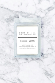 Sable + Company Tobacco Vanilla Waxmelt - Front cropped