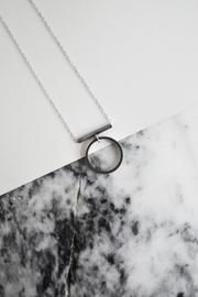 Sable + Company Tube Circle Necklace - Front cropped