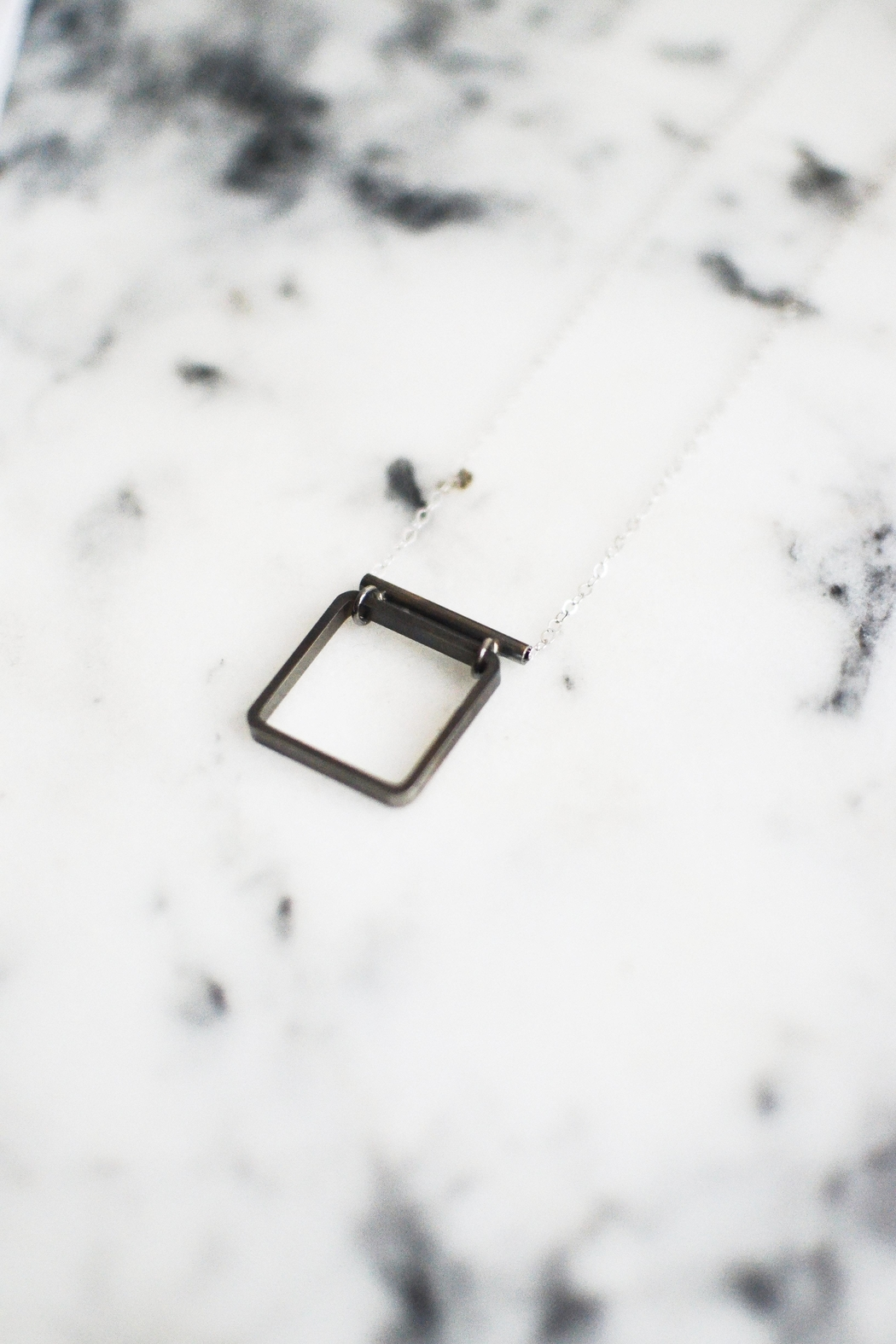 Sable + Company Tube Square Necklace - Front Full Image