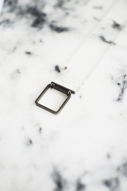 Sable + Company Tube Square Necklace - Front full body