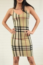 Sabora Plaid Check Dress - Product Mini Image