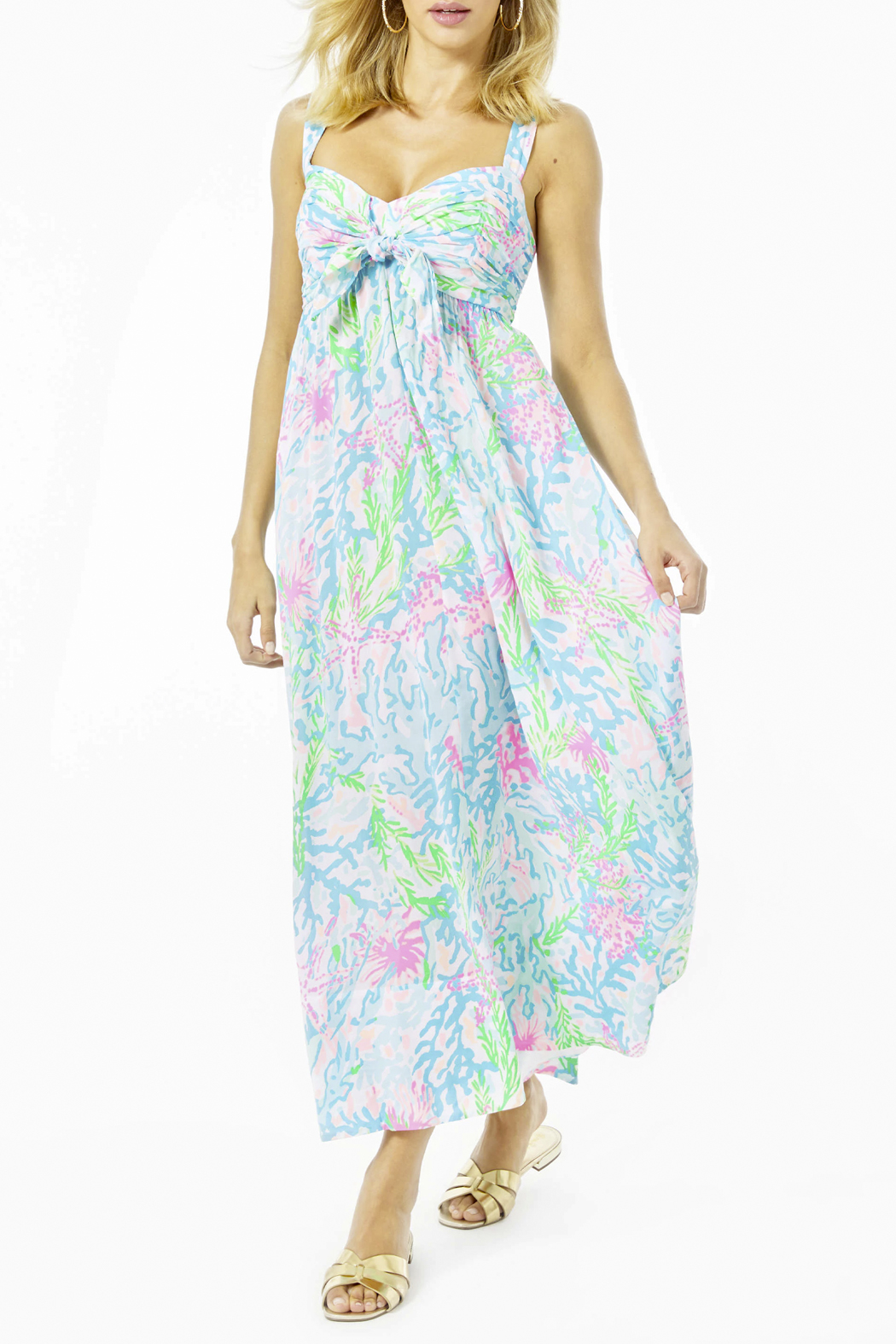 Lilly Pulitzer  Sabrinah Midi Dress - Front Cropped Image