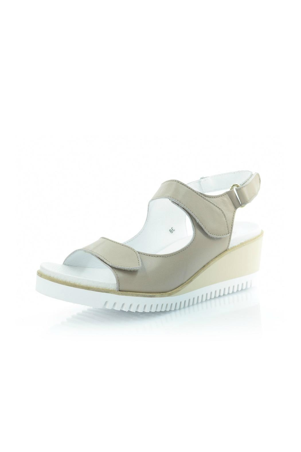 Sabrinas Beige Leather Sandal - Main Image