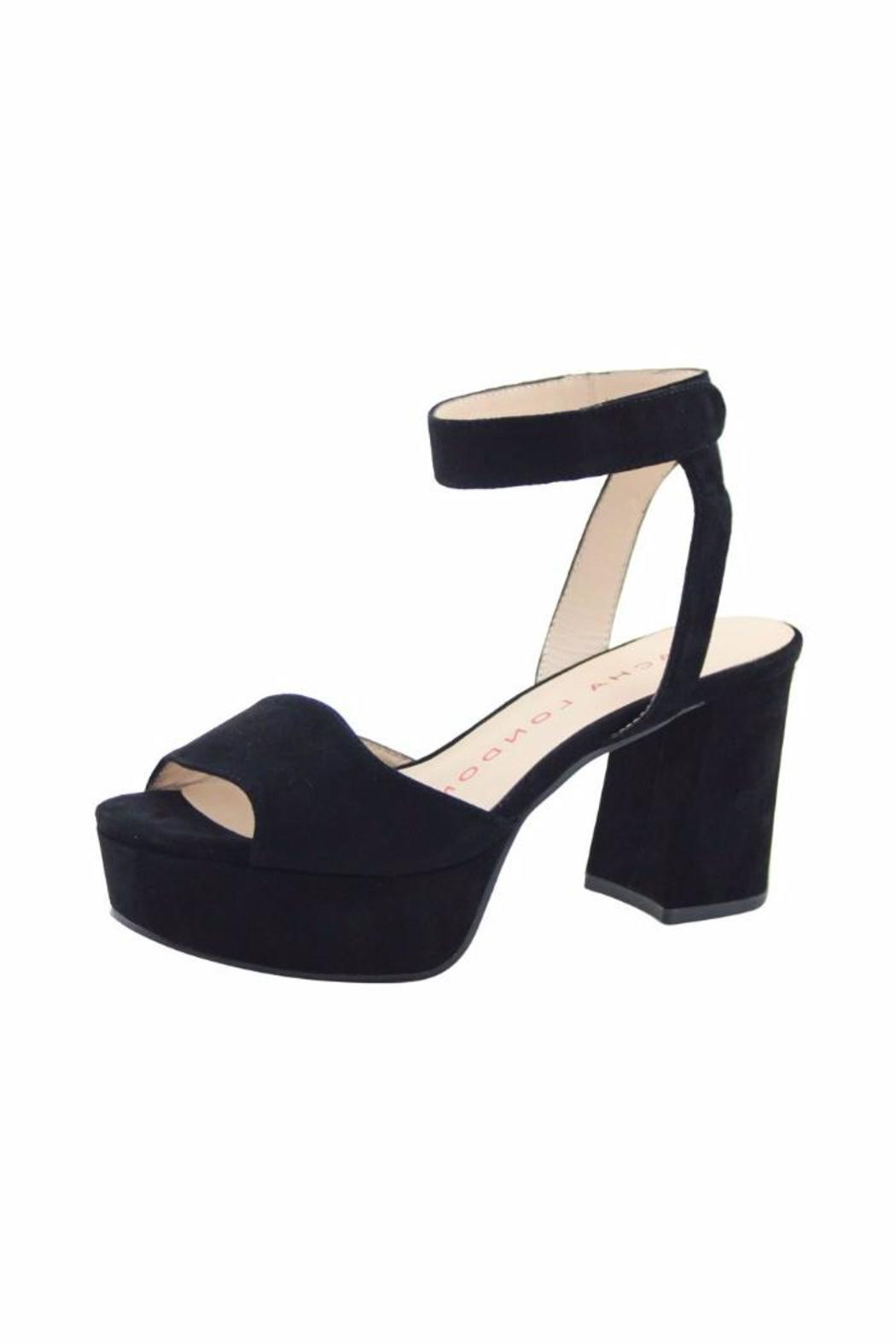 Sacha London Black Suede Platform - Main Image