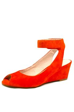 Shoptiques Product: Suede Peep-Toe Wedge
