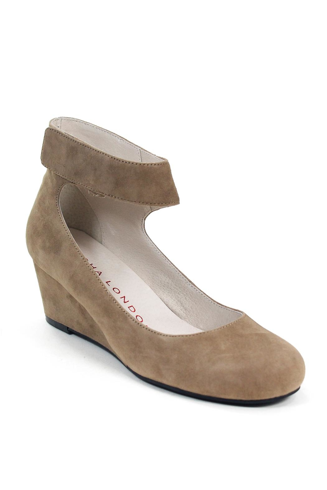 Sacha London Vespa Suede Wedge - Front Full Image
