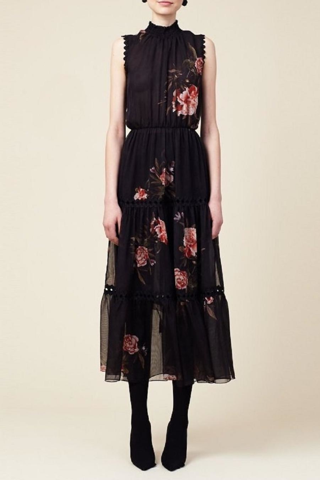 Sachin + Babi Sleeveless Floral Dress - Front Cropped Image