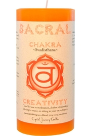 Crystal Journey Candles Sacral Chakra Candle - Product Mini Image