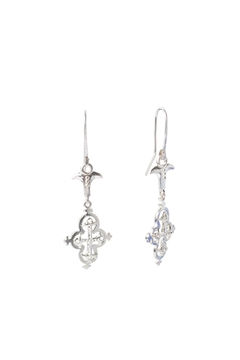 Sacrosanta Cross Lunata Silver Earrings - Product List Image