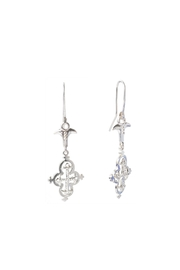 Sacrosanta Cross Lunata Silver Earrings - Product Mini Image
