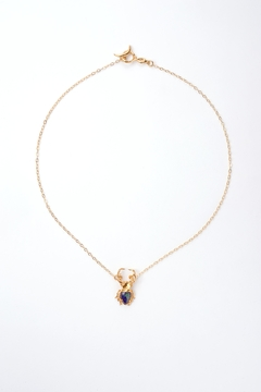 Sacrosanta Gold Beetle Azurite Necklace - Product List Image