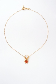 Sacrosanta Red Beetle Necklace - Product List Image