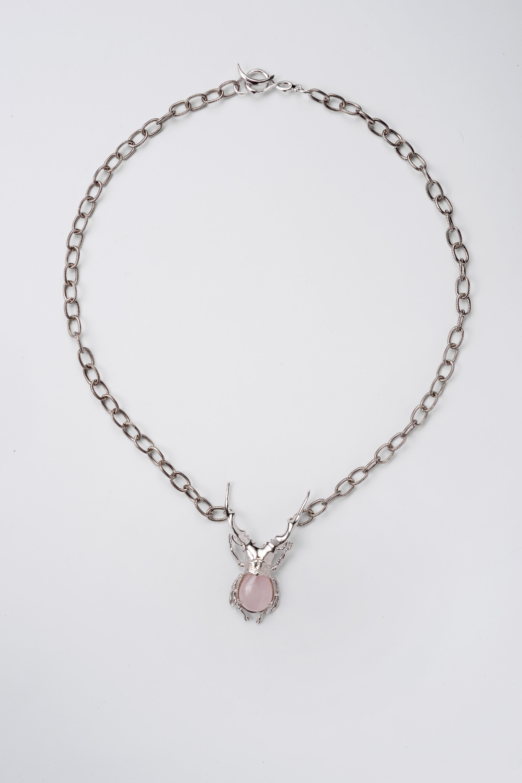 Sacrosanta Lucano Bettle Rose Necklace - Front Cropped Image