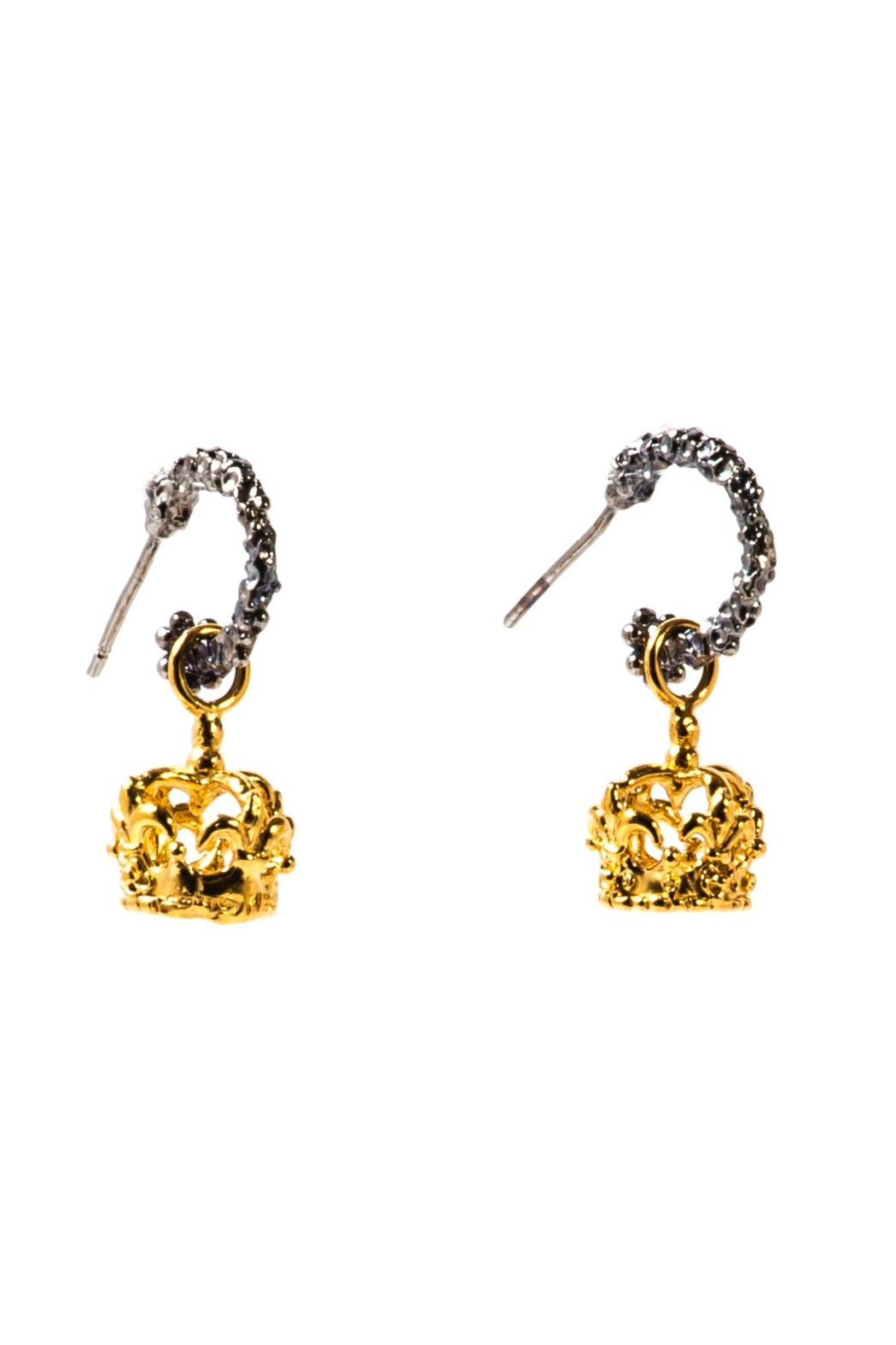 Sacrosanta Queen Crown Earrings - Front Cropped Image