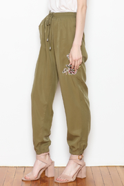 Sadie & Sage Rose Embroidered Joggers - Front full body