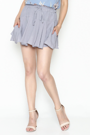 Sadie and Sage Waist Tie Ruffle Shorts - Product Mini Image
