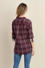 Hatley Sadie Burgundy-Plaid Blouse - Front full body