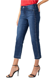 Liverpool Sadie Straight Eyelet Jeans - Front cropped