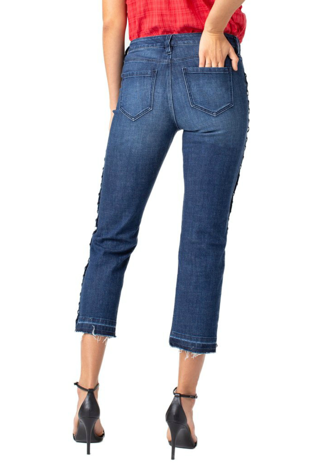 Liverpool Sadie Straight Eyelet Jeans - Front Full Image