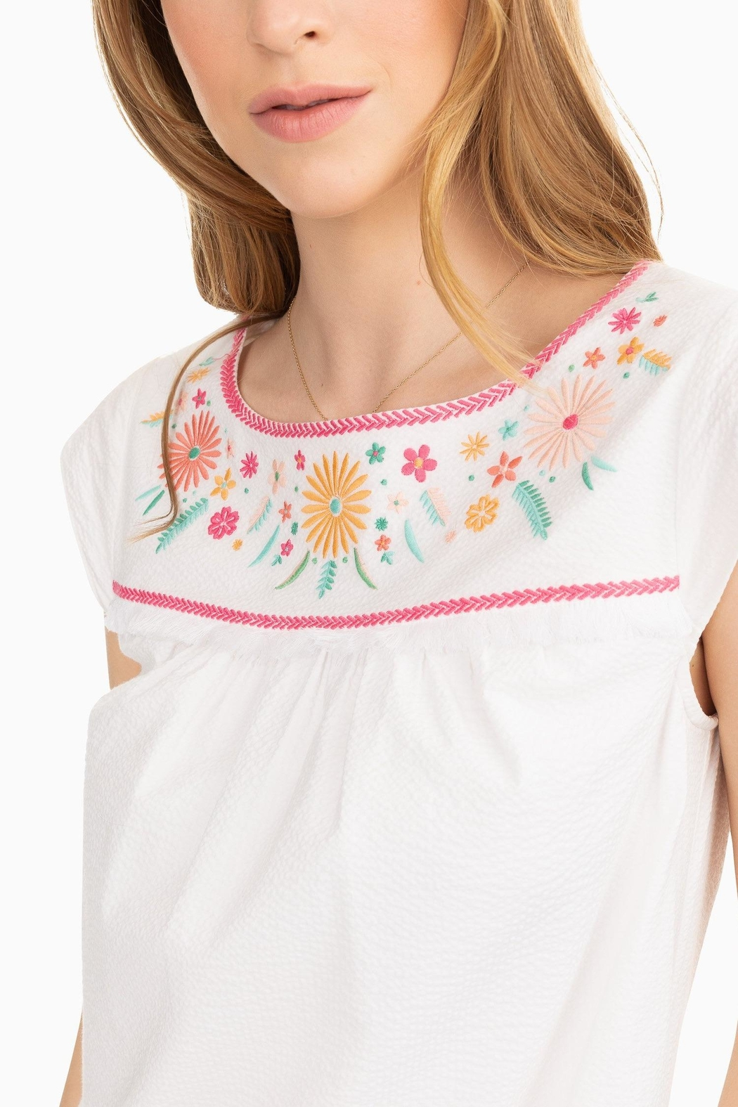 Southern Tide Sadie Embroidered Dress - Front Full Image