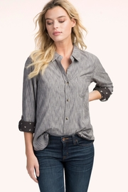 Hatley Sadie Grey-Mini-Floral Blouse - Front cropped