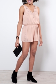 Sadie & Sage Cutwork Lace Romper - Product Mini Image