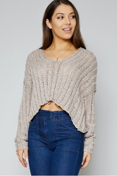 Sadie & Sage Deep V Sweater - Product List Image