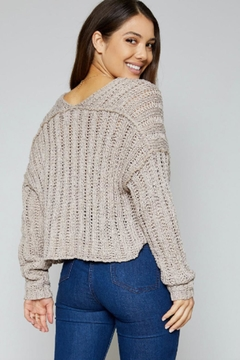 Sadie & Sage Deep V Sweater - Alternate List Image