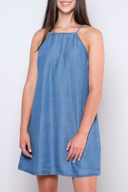 Sadie & Sage Denim Lace-Up Dress - Product Mini Image