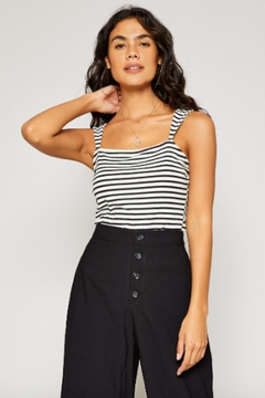 Sadie & Sage Striped Knit Tank - Product List Image