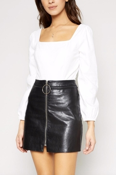 Sadie & Sage Vegan Zipper Miniskirt - Alternate List Image