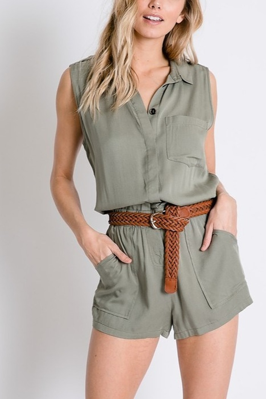 Lyn -Maree's Safari Romper - Front Full Image