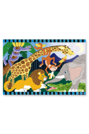 Melissa and Doug Safari Social Floor Puzzle 24pc - Side cropped