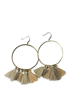 Fabulina Designs Safari Tassel Hoop Earrings - Alternate List Image