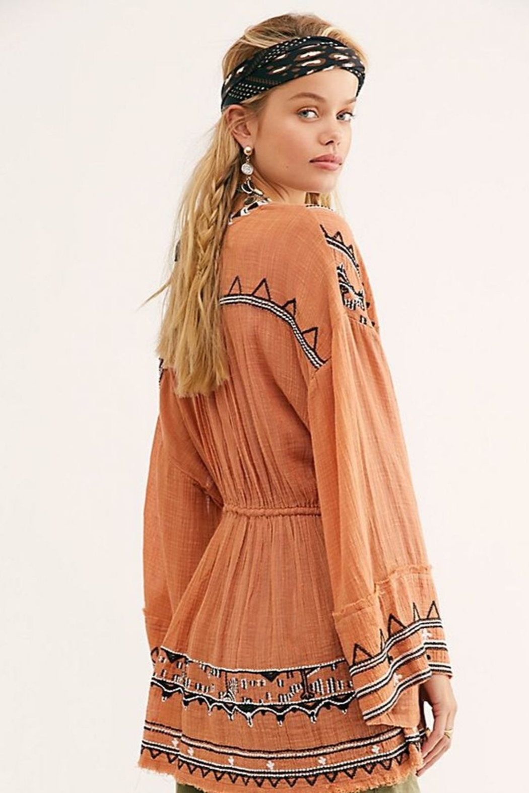Free People Saffron Embroidered Tunic - Side Cropped Image