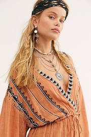 Free People Saffron Embroidered Tunic - Front full body